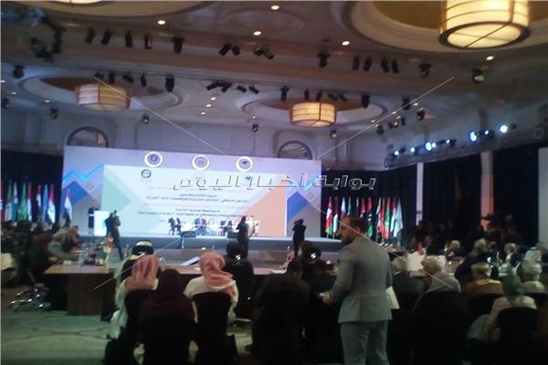 خلال الجلسة الافتتاحية للدورة الثالثة والأربعين لمجلس محافظي المصارف المركزية ومؤسسات النقد العربية