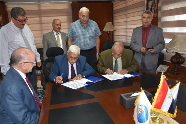 بروتوكول للتعاون بين جامعة مدينة السادات وادارة السات التعليميه