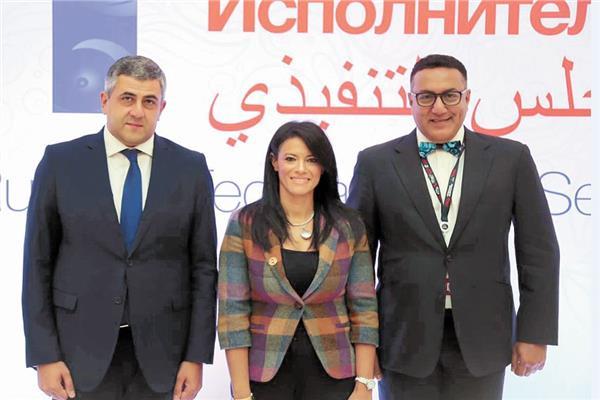إحدى لقاءات وزيرة السياحة مع امين منظمة السياحة العالمية