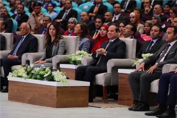الرئيس عبد الفتاح السيسي خلال مؤتمر الشباب
