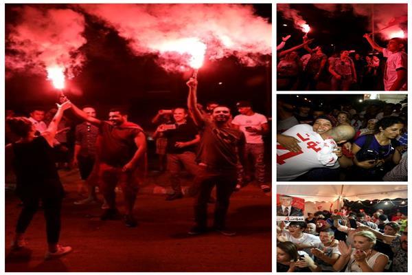 انتخابات تونس| أنصار القروي يحتفلون بوصوله للإعادة بـ«الشماريخ»