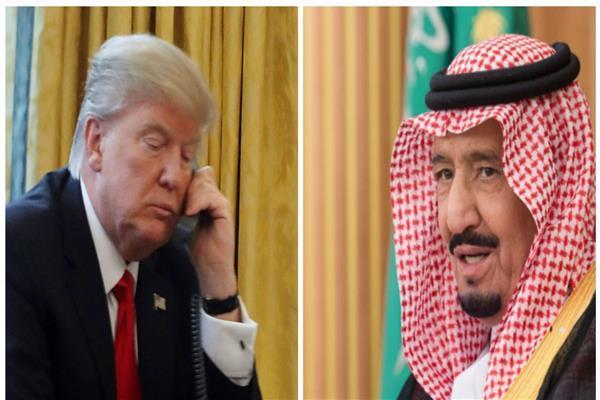 خادم الحرمين الشريفين والرئيس الأمريكي