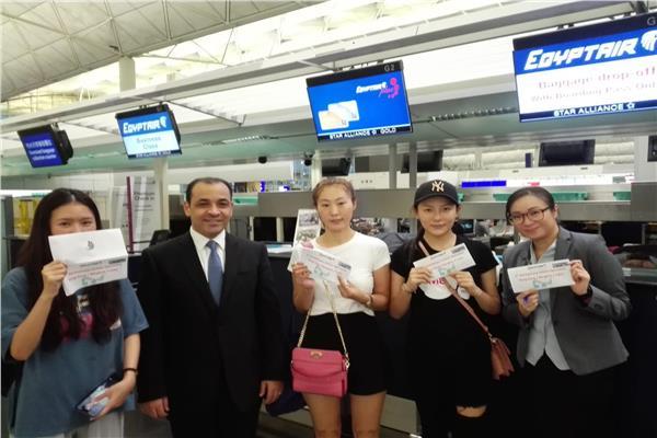 مصر للطيران تحتفل بمرور عام على خط هونج كونج