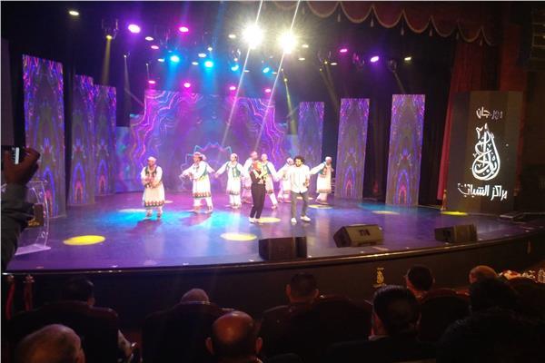 صورة من حفل افتتاح مهرجان الابداع لمراكز الشباب