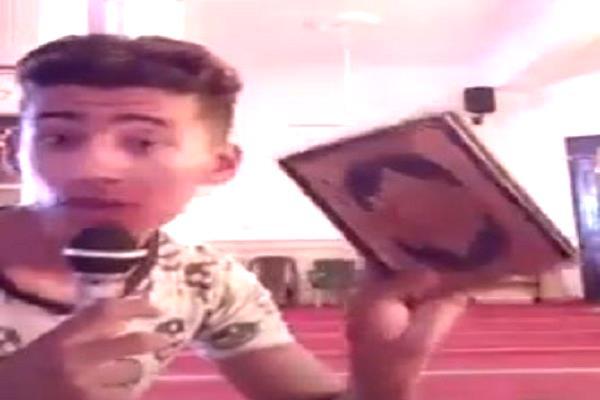 مشهد من مقطع الفيديو المتداول