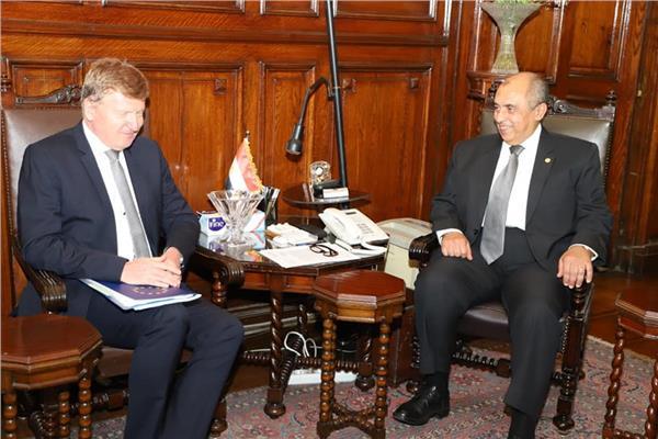 خلال لقاء وزير الزراعة مع سفير الاتحاد الاوروبي