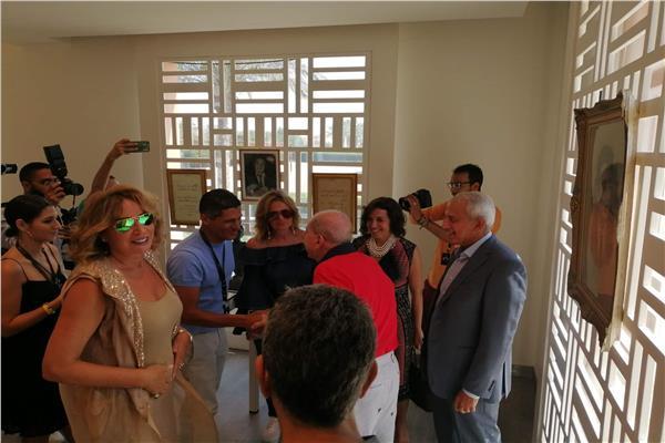 افتتاح معرض مقتنيات إحسان عبد القدوس في الجونة