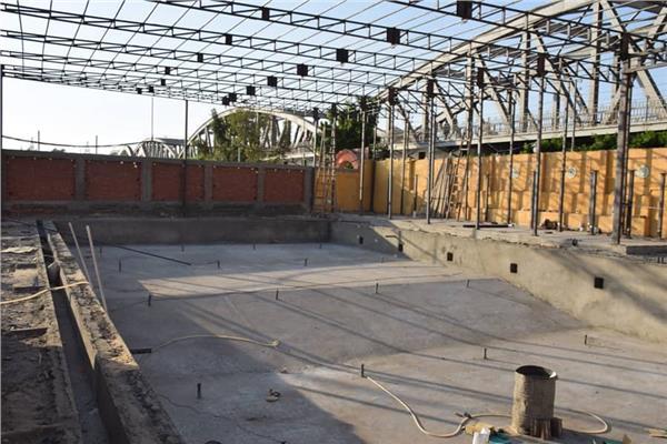 مشروع إنشاء حمام سباحة بمركز شباب ميت غمر