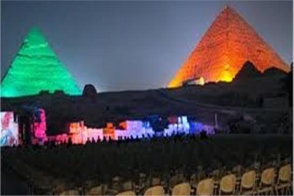 إضاءة الأهرامات في اليوم العالمي للقلب