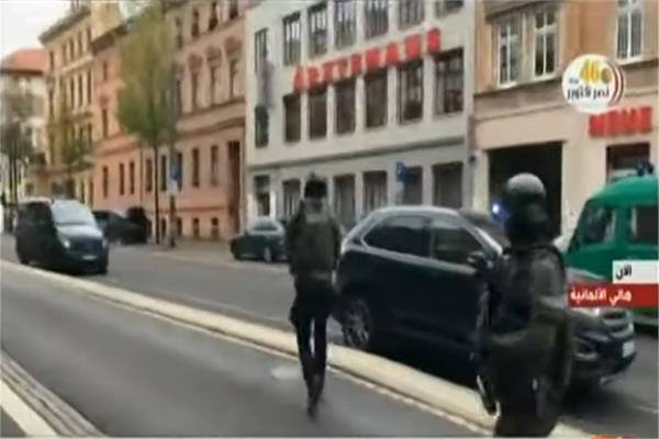 الشرطة الالمانية تحاصر موقع الاعتداء بمدينة هالي