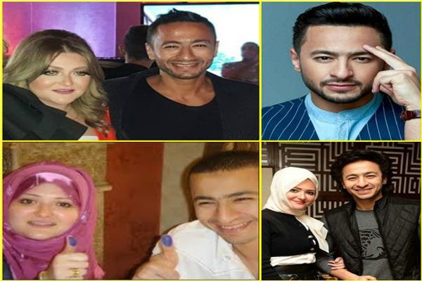 حمادة هلال وزوجته أسماء سميح