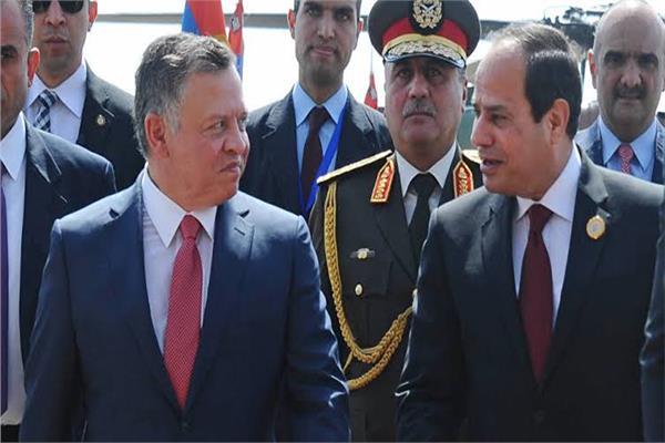 الرئيس السيسي والملك عبد الله - أرشيفية