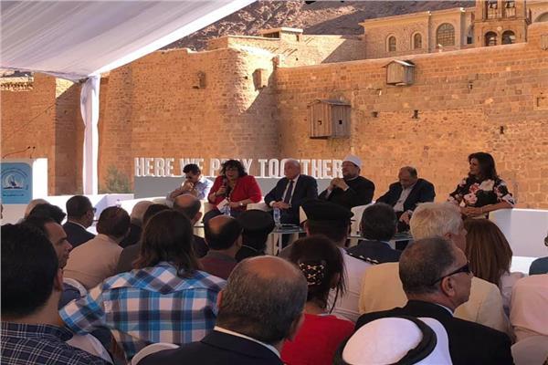 مؤتمر صحفي بدير سانت كاترين