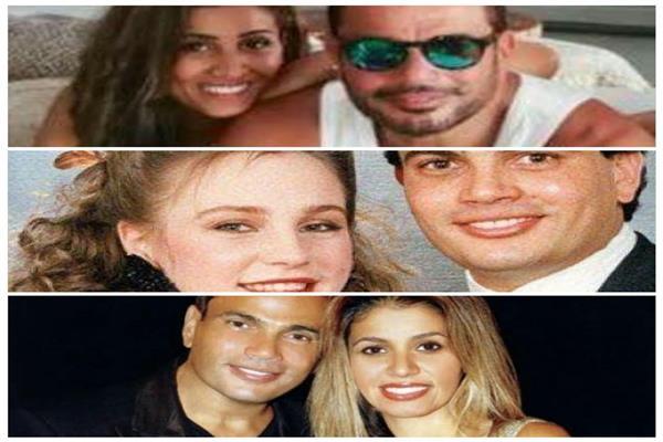 عمرو دياب مع زوجاته