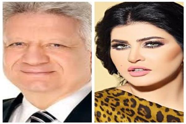 المستشار مرتضي منصور والفنانة جُمانة مراد