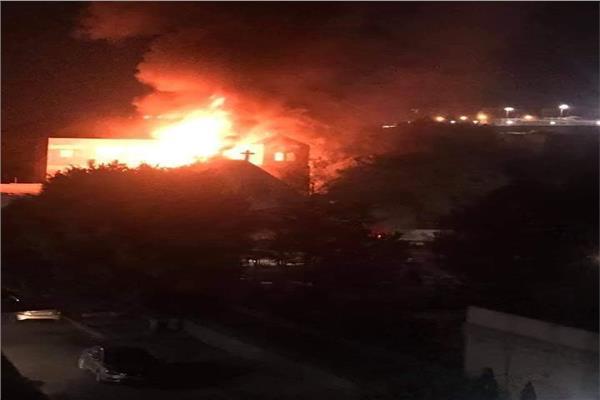 رئيس حي حلوان يكشف تفاصيل حريق كنيسة مارجرجس