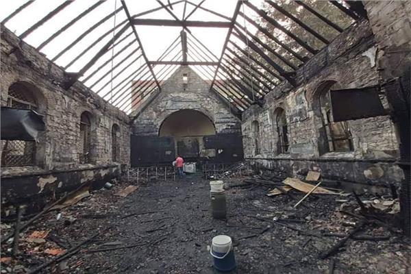 كنيسة حلوان المحترقة من الألمان إلى الأقباط