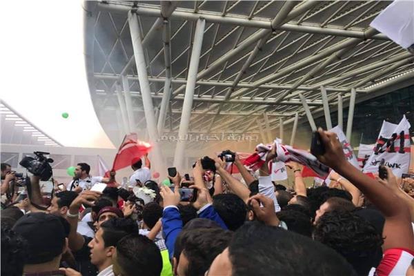 بعثة يد الزمالك تصل مطار القاهرة