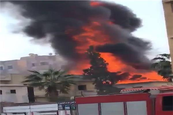 حريق في كنيسة مارجرجس في مدينة المنصورة