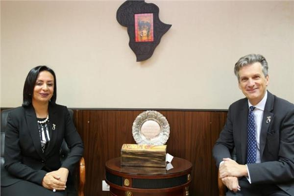 مايا مرسي تستقبل سفير بريطانيا
