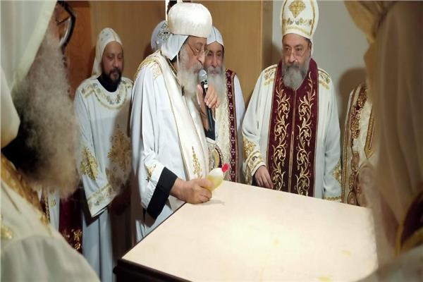 البابا تواضروس يدشن كنيسة العذراء والرسل في بلجيكا