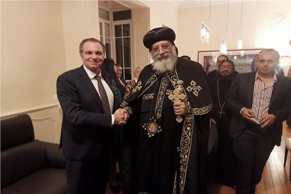 البابا تواضروس يزور مقر القنصلية المصرية بمارسيليا