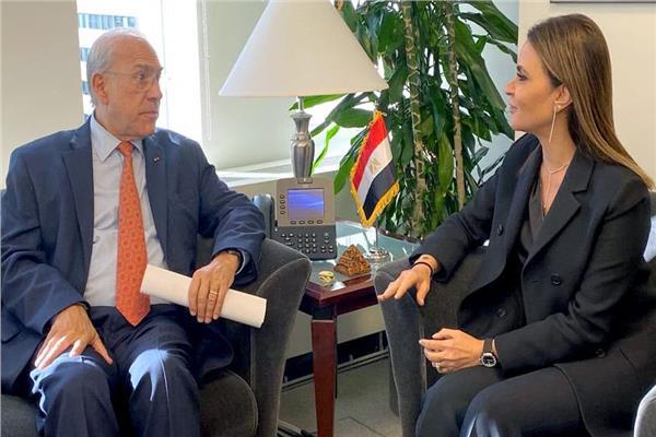 وزيرة الاستثمار تلتقي السكرتير العام لمنظمة التعاون الاقتصادي والتنمية
