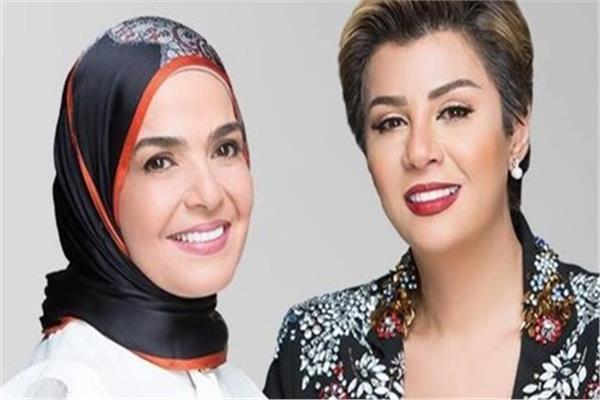 الإعلامية مفيدة شيحة ، و مني عبد الغني