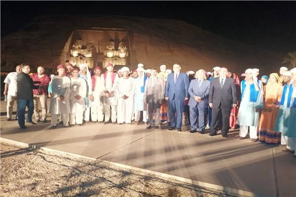فعاليات الإحتفال بمهرجان تعامد الشمس على وجه الملك رمسيس الثانى