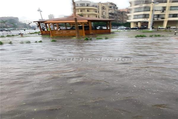 مياه الأمطار بمصر الجديدة