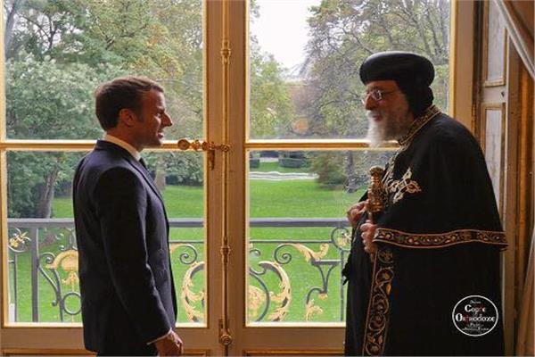 البابا تواضروس خلال زيارته لفرنسا