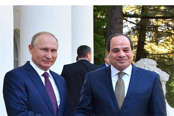 الرئيس السيسي ونظيره الروسي فلاديمير بوتين - أرشيفية