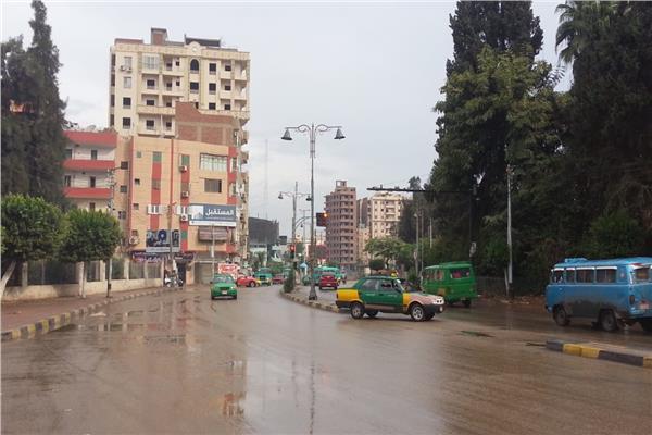 اجواء ممطره بقرى ومراكز محافظة المنوفيه