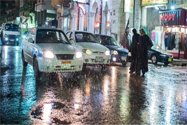 الأمطار تغرق شوارع بورسعيد - أرشيفية