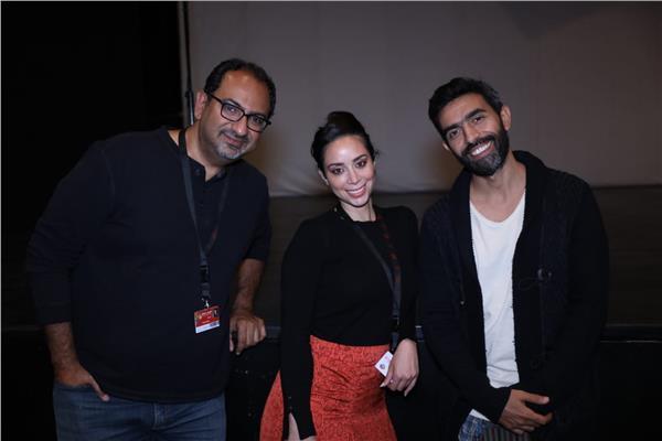 عمرو عابد وفريق عمل الفيلم