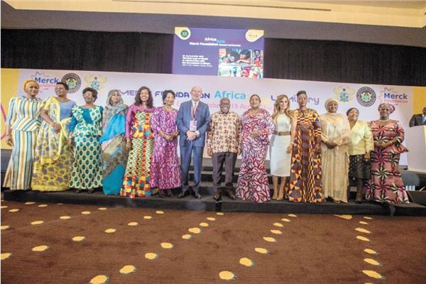 جانب من مؤتمر ميرك الأفريقى السادس بغانا لمناقشة مستقبل الصحة والتعليم فى أفريقيا
