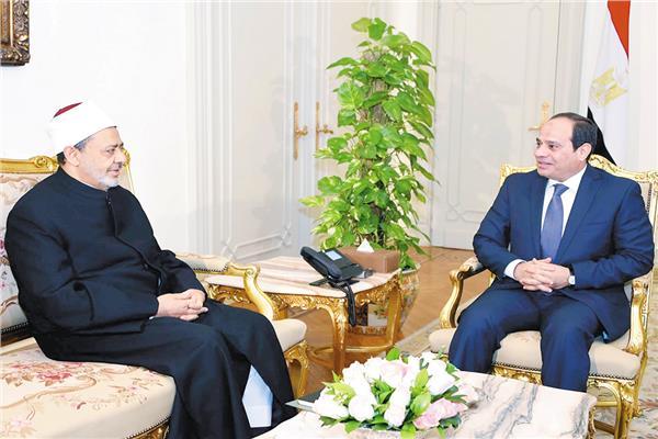 الرئيس-السيسى وشيخ الأزهر