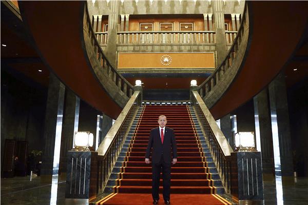 أردوغان في أحد قصوره