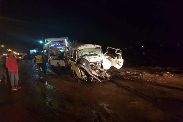 ضحايا حادث التصادم المروع بطريق الإسكندرية الصحراوي