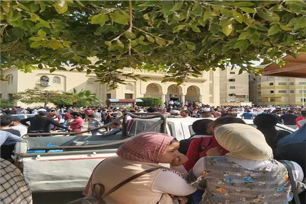 تشييع جنازة طالبة كلية الصيدلة بالعريش