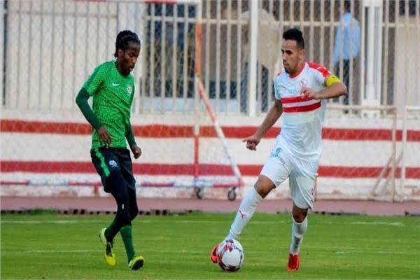 صورة من مباراة الزمالك وجنوب إفريقيا