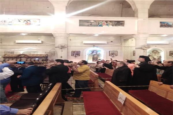 كنيسة مارجرجس بالجيزة تستقبل رفات القديسة تريز