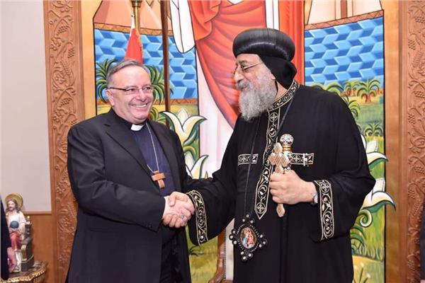 البابا تواضروس يستقبل كاردينال جزيرة صقلية