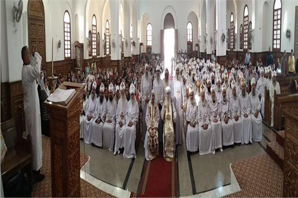 الاحتفال بالعيد السابع والخمسين لرهبنةالأنبا باخوميوس بدير السريان .
