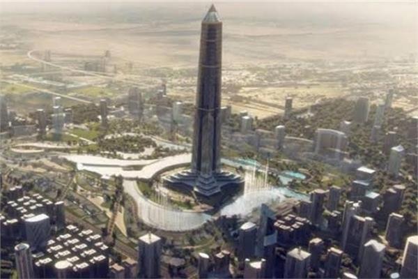 """الهيكل الإنشائى المعدنى للبرج """"الأيقوني"""" أعلى برج بأفريقيا بالعاصمة الادارية"""