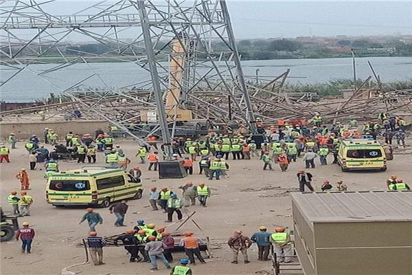 شهود عيان لنيابة: برج الكهرباء سقط أثناء عملية تفكيكه