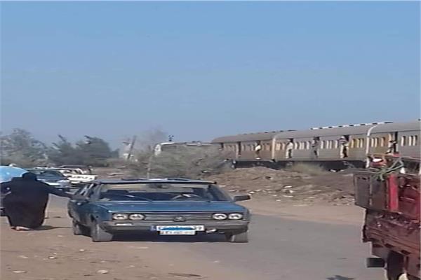 حقيقة خروج قطار عن القطبان في مدينة قطور بالغربية