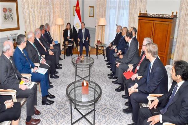 الرئيس عبد الفتاح السيسي خلال اللقاء