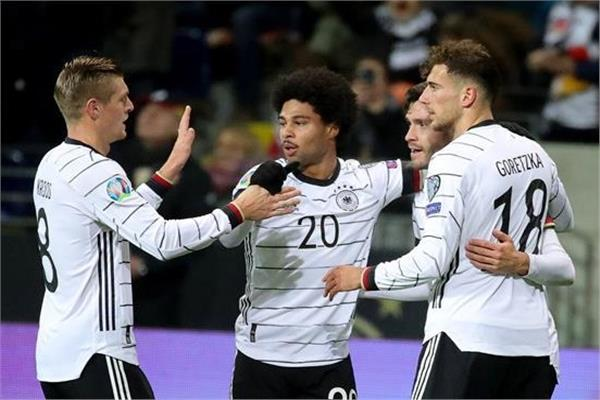 فرحة لاعبي منتخب ألمانيا بالفوز