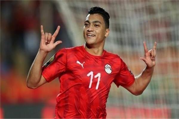 مصطفى محمد لاعب المنتخب الأولمبي